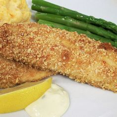 Almond-Crusted Tilapia.  SO good and SO easy! Will be making again soon!