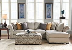 Shop for a Sofia Vergara Santa Barbara 3 Pc Sectional Living Room at Rooms To Go. Find Living Room Sets that will look great in your home and complement the rest of your furniture. #iSofa #roomstogo