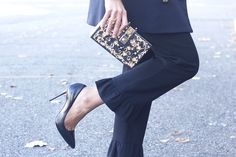 Black Trousers With A Ruffle On The Bottom | BeSugarandSpice - Fashion Blog