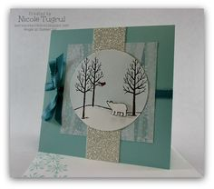 I made this scenic Christmas card for the Monday Lunchtime Sketch Challenge.  More details are on my blog.  http://www.becreativewithnicole.blogspot.com/2014/10/white-christmas-for-tssc338.html