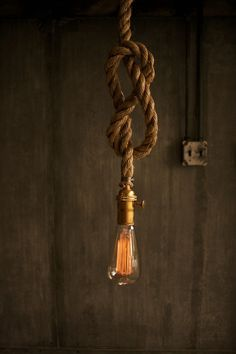 Rustic Rope Design Hanging Light - LukeLampCo