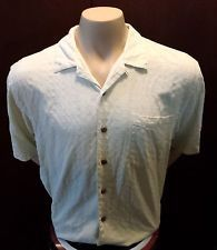Tommy Bahama Button Up Shirt Size Large Top 100% SILK Short Sleeve checkered $19.99 http://stores.ebay.com/LeCaze-Boutique