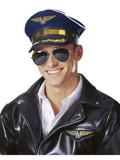 048d13fdd648c Airline Pilot Hat Unisex Adult. Halloween Costume ...