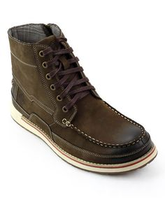 Look what I found on #zulily! Brown Mattawa Leather Boot #zulilyfinds