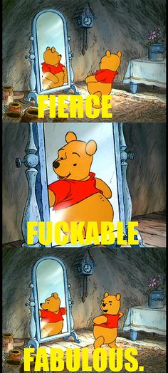 I can't decide of this is amazing or completely ruins my childhood adoration for Winnie the pooh