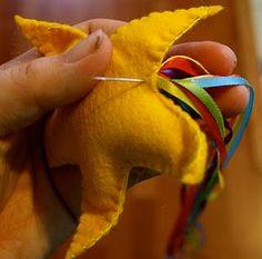 felt star, how cute! could be used as a fun toss toy #felt #star #kids #diy