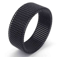 AnaZoz Jewelry Black Woven Mesh Band 8MM Stainless Steel Screen Mens Womens Ring Size 11. Perfect Valentine's Gift For Love His or Her. By AnazoZ Jewelry Shop Adopt Resist Allergy Material,Ensure Safety And Environmental Protection. Over 10000+ Offers High Quality Luxury Jewelry, Choose a Favorite Gift. 30-Day Money Back Guarentee.100% Secure Shopping. Any Questions by E-mail, You Will Get a Reply in 24 Hours.