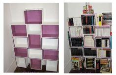 Une bibliothèque en caisses de vin en bois - Bibliothèque - Vous êtes un as de la récup'