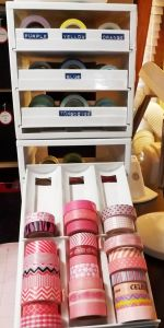 ***** This is the best one I've seen - washi tape storage from spice drawers | Kat's Scrappy, Bloggy Life