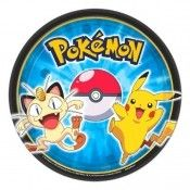 Pokemon Pikachu And Friends Paper Party Supplies Plates Dessert Or Dinner 8 Ct