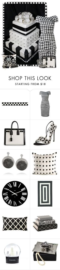 """Black and white wedding cake!"" by suzzanne567 ❤ liked on Polyvore featuring Dolce&Gabbana, Yves Saint Laurent, René Caovilla, Ileana Makri, Kelly Wearstler, Alessi, Capel Rugs, Serena & Lily, Chanel and Michael Aram"