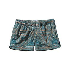 Women's Patagonia Barely Baggies™ Shorts - Bermuda Curacao ($49) ❤ liked on Polyvore featuring shorts, bottoms, bermuda curacao, nylon shorts, bermuda shorts, patagonia, patagonia shorts and baggy shorts