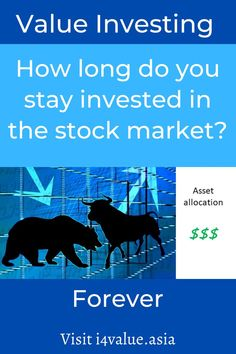 How long do you stay invested in the stock market? You invest to prevent the purchasing power of your savings from being eroded by inflation. Given this perspective, you should be investing all the time. Then if your main investment is in stocks, this means that you should continue to stay invested. But staying invested all the time does not mean that you stick to the same stocks. You have to follow your investment style. #i4value #valuation #dividendinvesting #indexfund #investingmoney Value Investing, Investing In Stocks, Investing Money, Fundamental Analysis, Technical Analysis, Dividend Investing, Behavioral Issues, Asset Management, Stock Market