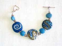 Kazuri Bracelet, Item #381 by lindaleewearableart for $55.00