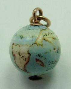 Globe Charm   Sandys Vintage Charms                                                                                                                                                                                 More