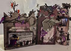 Recollections Spooky Castle Halloween mini album by Anne Rostad