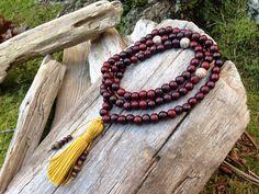 Antique Buddhist Mala 108 Prayer Bead Necklace  on Etsy, $28.00