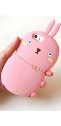 Pink Rabbit Silicone Iphone Samsung Phone Case Cover