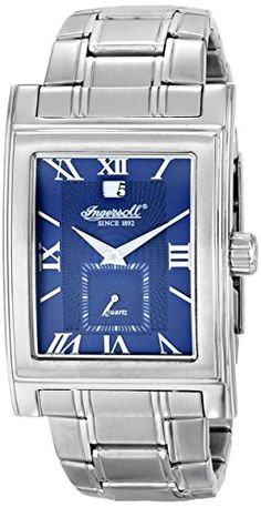 Men's Wrist Watches - Ingersoll Mens Kensington Analog Display Japanese Quartz Silver Watch >>> You can find more details by visiting the image link. Wrist Watches, Omega Watch, Image Link, Quartz, Japanese, Display, Amazon, Awesome, Check