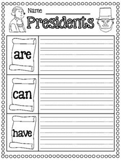 President's Day FREEBIES  7 pages