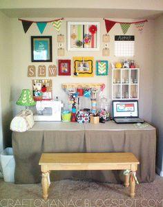 craft room display wall