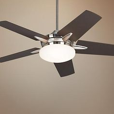 "52"" Casa Endeavor® Brushed Nickel Bronze Ceiling Fan"