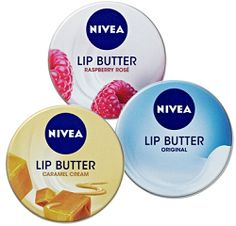 Nivea Lip Butter Lip Balm Tin - my fave is the Raspberry Rose.  Perfect for applying over bright lipstick shades to make them perfect and so good for lips.