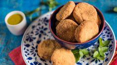 nuggets de frango saudavel com molho de mostarda e mel