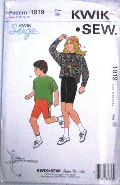 KWIK Sew 1919 Boy Girl Top Shorts Swim Trunks by Denisecraft, $5.99