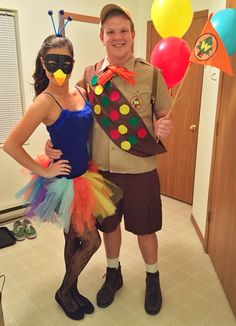Kevin from up and Russell Halloween costume DIY!