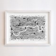 This is a screenprint version of the Literary London Map.A map of the capital featuring characters from the pages of novels based in London. The famous and infamous. And also the less well known. Those with an amazing moniker or brilliantly conceived nickname who are a credit to their creator. Each character has been plotted in the corners of the city they most liked to roam or chose to call home (sometimes at Her Majesty's Pleasure). Combining hand-drawn typography and illu...