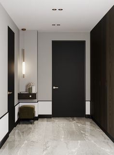 Moscow Ap on Behance Dark Living Rooms, Condo Living, Apartment Projects, Apartment Design, Hotel Corridor, Corridor Design, Wall Design, House Design, Hotel Interiors