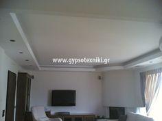Οροφή με κρυφό φωτισμό σε οικία στο Γαλάτσι. Flat Screen, Home Decor, Blood Plasma, Decoration Home, Room Decor, Flatscreen, Home Interior Design, Dish Display, Home Decoration
