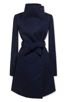 New Style Lapel Dark Blue Coat  *** If you'd like to learn more about Tarran & Her Company 'Corporate Cinderella' & Our Success Clique 12 Mth Leadership Program is equipping & empowering women leaders. Learn more TODAY at www.corporatecinderella.com.au/success/ or call us +61 417 654305. We'd love your company!