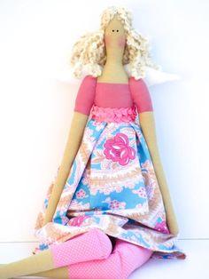 Fabric doll angel fairy doll  cloth doll art by HappyDollsByLesya