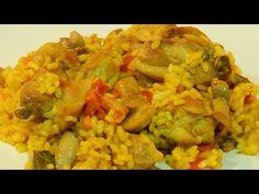 Recetas de cocina con sabor tradicional: Arroz seco con pollo, conejo y verduras receta fácil