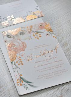 Whimsical Rose https://www.loveandlavender.com/top-10/gold-foil-wedding-invitations/