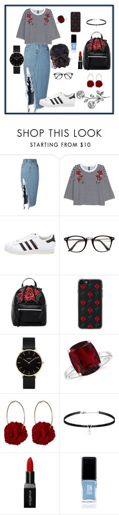 """Rose Style"" by skatejane on Polyvore featuring storets, adidas, T-shirt & Jeans, Zero Gravity, CLUSE, Vjera Vilicnik, Smashbox and JINsoon"