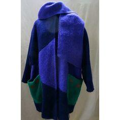 MOHAIR COAT….unique, Canadian designer, XL, Bling Bling, never worn, Striking Design (170 CAD) found on Polyvore
