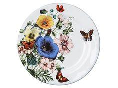 Juliska Field of Flowers Party Plates Set/4 White Truffle