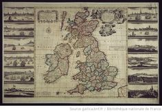 A New and exact Map of Great Britain and Ireland According to the latest and Best Observations [...] | Philip Overton (Cartographe) | 1725 | National Library Of France | Public Domain Marked