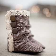 Nori Shoes Britton baby/toddler ruched tweed boots by NoriShoes, $72.00