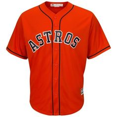 50173f3e Houston Astros Majestic Big & Tall Cooperstown Cool Base Jersey - Multi,  Size: 2XB, Orange