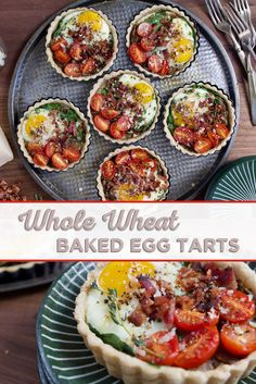 These savory little tarts are filled with mushrooms, cherry tomatoes, and eggs, making them the perfect treat for breakfast or brunch! Get this Whole Wheat Baked Egg Tart recipe here! Egg Recipes, Brunch Recipes, Cooking Recipes, Breakfast Dishes, Breakfast Recipes, La Tourtiere, How To Cook Zucchini, Clean Eating, Recipes