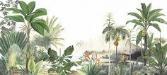 Art Mural, Wall Murals, Tree Photoshop, Tropical Wallpaper, Nature Artists, Palm Tree Print, Bali, Plant Illustration, Unique Wall Decor