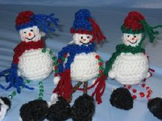 Dangle Leg Snowmen