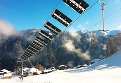 Solar wing ski lift in Switzerland... Now, that's pretty cool!