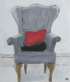Canvas Board, Still Life, Empty, Accent Chairs, Textiles, Glass, Painting, Furniture, Ideas