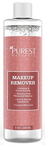 Purest Naturals Organic Makeup Remover - Gentle, Oil Free, Liquid For Removing Eye & Face Make Up On Sensitive, Acne, Dry & Oily Skin - 8 Oz 236 mL * Check out this great product.