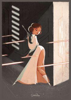 """Princess Leia """"Shoot Like a Girl"""" on Behance"""